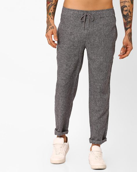 Trousers With Drawstring Waist By Native Youth ( Grey )