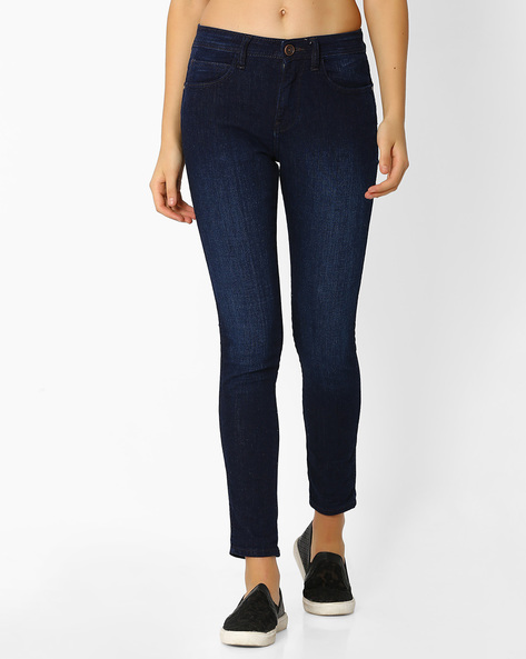 Lightly Washed Skinny Jeans By WRANGLER ( Blue ) - 460065921001