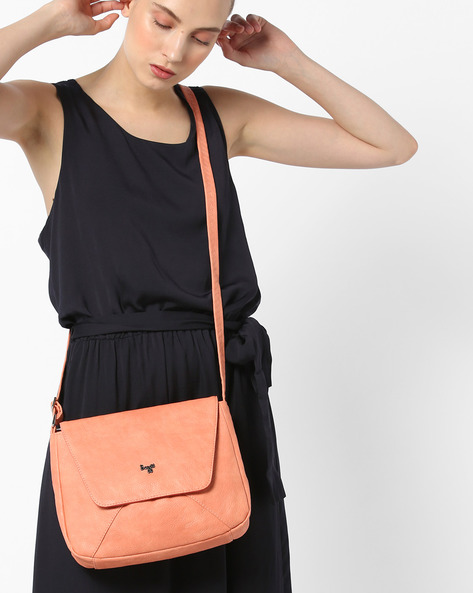L Lovable Y G E Sling Bag By BAGGIT ( Peach )
