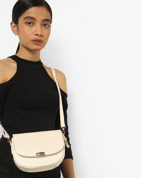 Sling Bag With Detachable Strap By Lino Perros ( White )