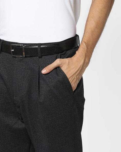 Genuine Leather Textured Belt By ALVARO CASTAGNINO ( Black ) - 460135797001