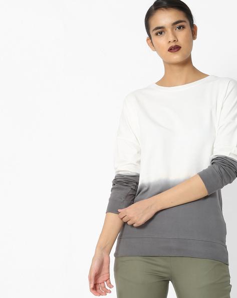 Colourblock Sweatshirt With Ribbed Hems By Blue Saint ( Multi )