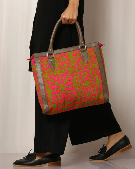 Handwoven Cotton Handbag By Molcha ( Multi ) - 460038599001
