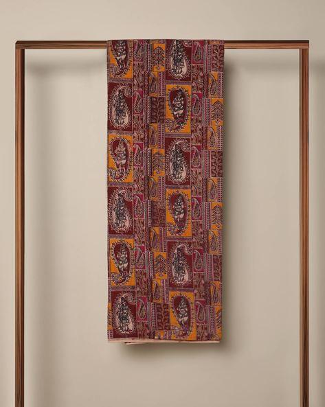 Printed Cotton Kalamkari Kurta Fabric By Indie Picks ( Multi ) - 460103636001