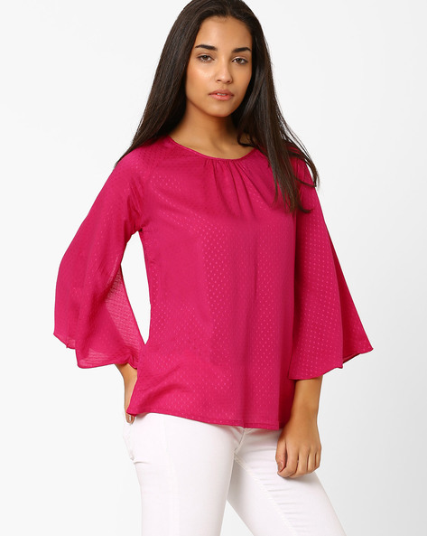 Top With Bell Sleeves By And ( Pink )