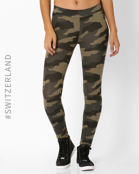 Camo Print Knitted Leggings By TALLY WEiJL ( Multi )