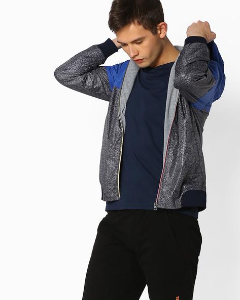 Printed Regular Fit Hooded Jacket By TEAM SPIRIT ( Brown )