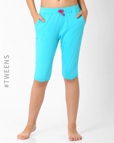 Cotton Lounge Shorts By AJIO ( Blue )