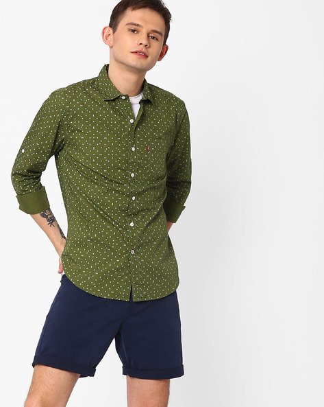 Regular Fit Printed Shirt By LEVIS ( Green )