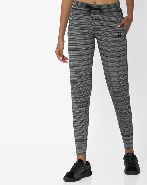 Striped Track Pants With Drawstring Waist By KAPPA ( Grey )