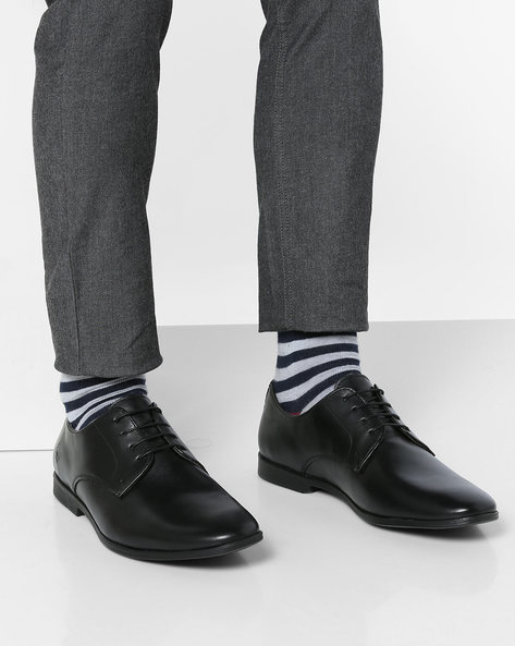 Lace-Up Derby Shoes By Bond Street By Red Tape ( Black )