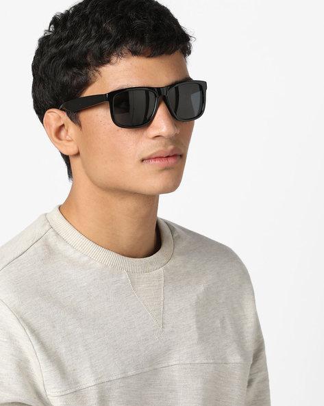 Full-Rim Wayfarer Sunglasses By FLYING MACHINE ( Black )
