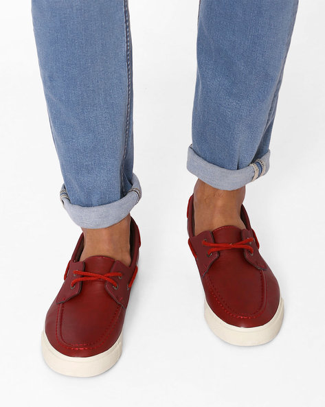 Lace-Up Casual Shoes By USPA ( Burgandy )