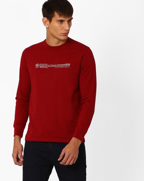 Regular Fit Crew-Neck Sweatshirt By MONTE CARLO ( Maroonburg )