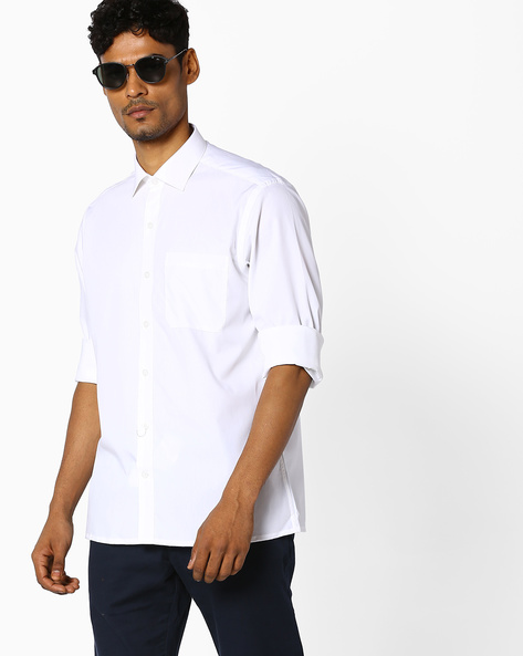 Classic Shirt With Patch Pocket By JOHN PLAYERS ( Brtmulti )
