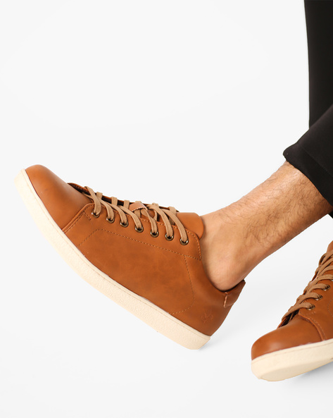 Low-Top Lace-Up Shoes By Bond Street By Red Tape ( Tan )