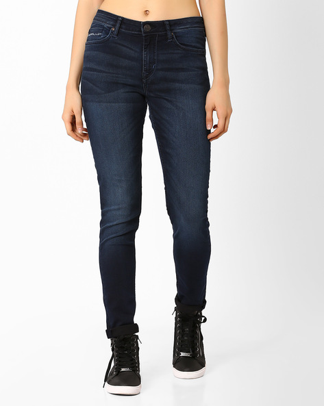 Lightly Washed Skinny Jeans By Lee ( Blue ) - 460030640003