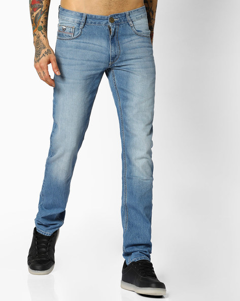 Mid-Rise Slim Fit Jeans By JOHN PLAYERS ( Blue ) - 440735582003