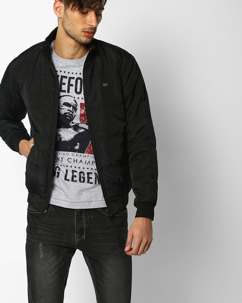 Relaxed Fit Padded Jacket By NETPLAY ( Black )