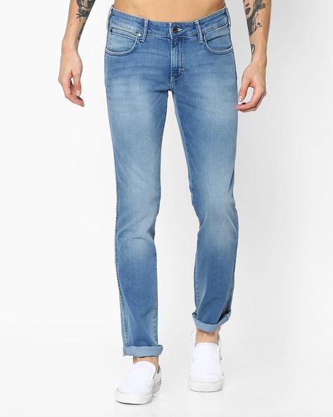 Lightly Washed Slim Jeans By WRANGLER ( Blue )