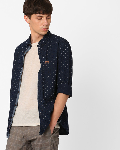 Printed Slim Fit Cotton Shirt By US POLO ( Assorted )
