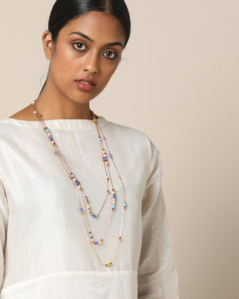 Multi-Layered Beaded Necklace By Project Eve ( Multi ) - 491327368