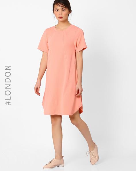 A-line Tunic Dress By Closet London ( Peach )