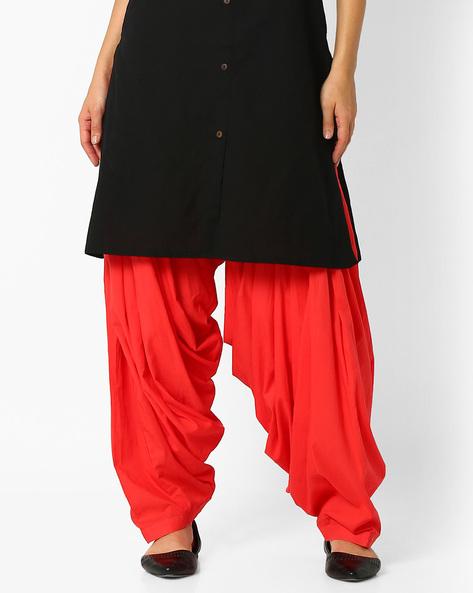 Cotton Patiala Pants By Stylenmart ( Peach )