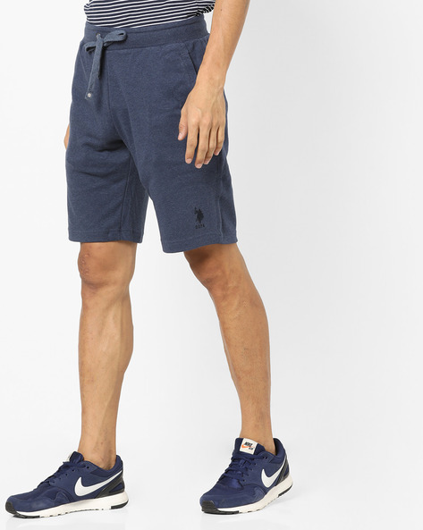 Shorts With Elasticated Waist & Drawstring By US POLO ( Denim )