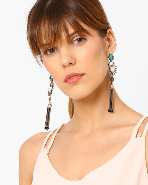 Tassel Drop-Earrings By Baublebeads ( Multi )
