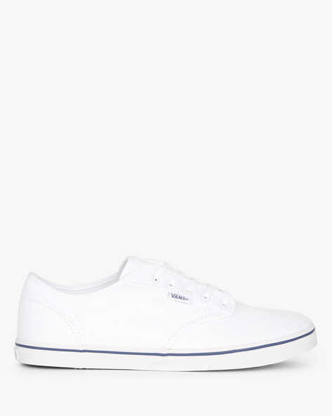 Lace-Up Casual Shoes By Vans ( White )