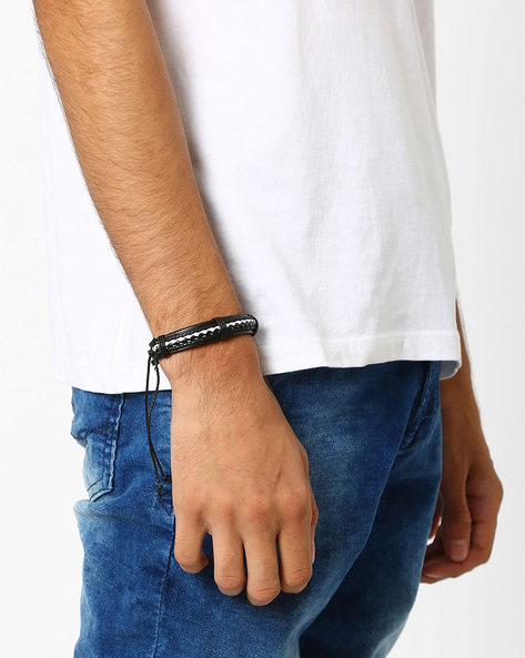 Bracelet With Contrast Detail By Eristona Man ( Black )