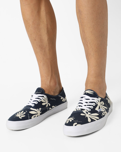 Authentic SF Printed Casual Shoes By Vans ( Blue )