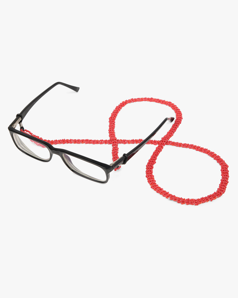 Eye Glass Beaded String By Indie Picks ( Red )