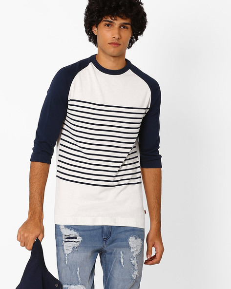Flat-Knit T-shirt With Raglan Sleeves By LEVIS ( White )