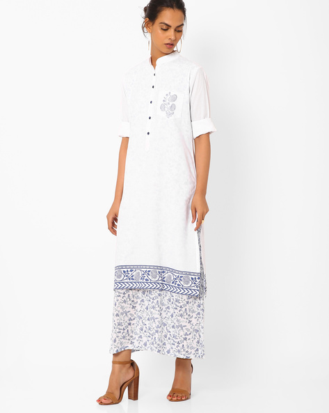 Layered Dress With Patch Pocket By Vajor ( White )