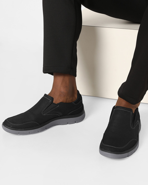 Slip-On Casual Shoes By CLARKS ( Black )