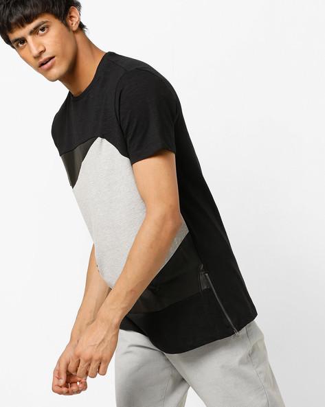 AJIO MEN Tshirts, BLACK, S By AJIO ( Black )