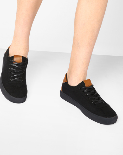 Panelled Sneakers With Lace-Ups By Nuboy ( Black )