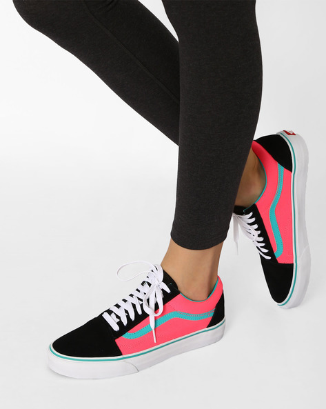 Old Skool Colourblock Casual Shoes By Vans ( Multi )