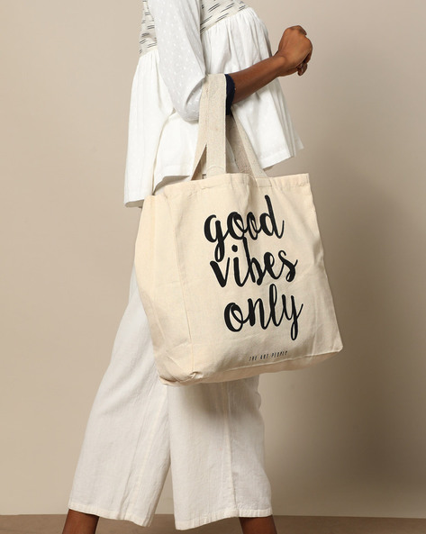 Multipurpose Cotton Canvas Tote Bag By The Art People ( White ) - 460179678001