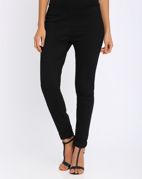Slim Fit Trousers By Candies By Pantaloons ( Black )