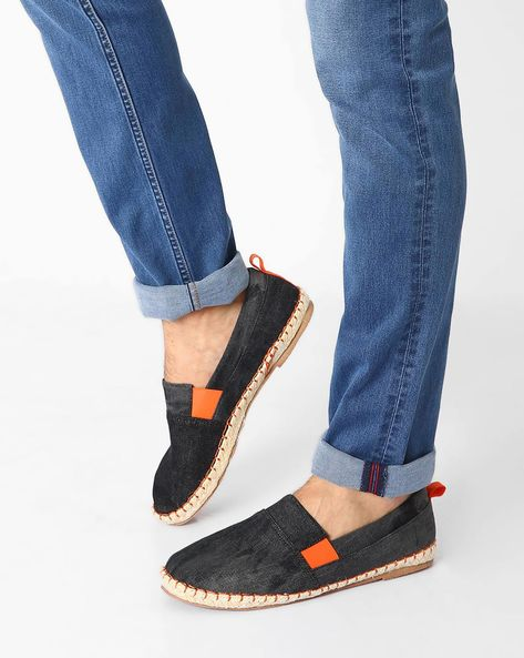 Canvas Espadrilles With Woven Midsole By AJIO ( Assorted )