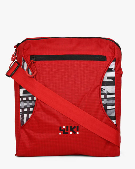Wiki Flip-It Water-Resistant Messenger Bag By Wildcraft ( Red )