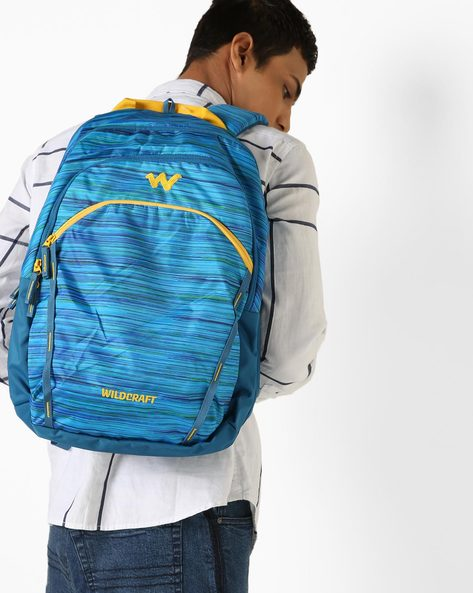 Colourblock Backpack With Branding By Wildcraft ( Blue )
