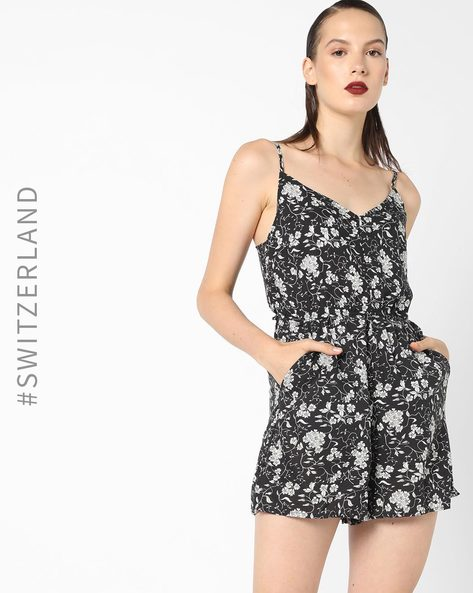Strappy Playsuit With Waist Tie-Up By TALLY WEiJL ( Multi )