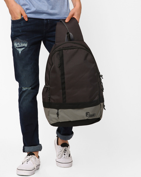 Burner Casual Backpack By F-GEAR ( Black )