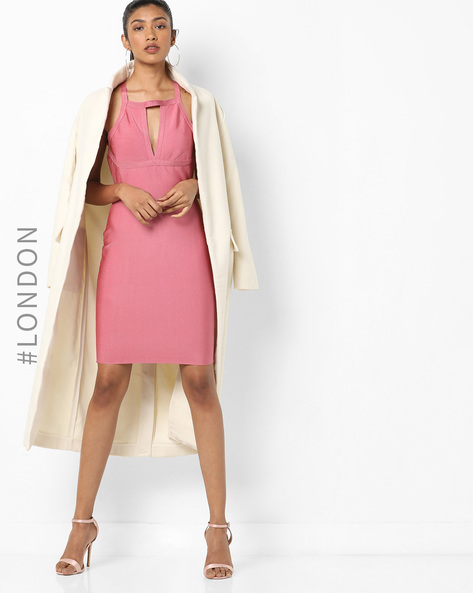 Strappy Sheath Dress With Cutouts By Glamorous ( Pink )