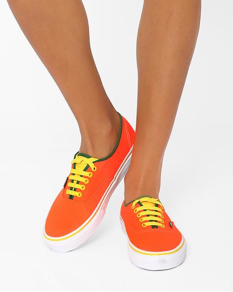 Authentic Canvas Casual Shoes By Vans ( Orange )