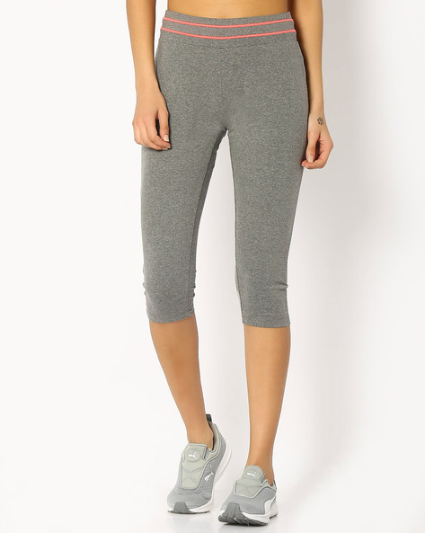 Capris With Elasticated Waist By KAPPA ( Grey ) - 460065288002